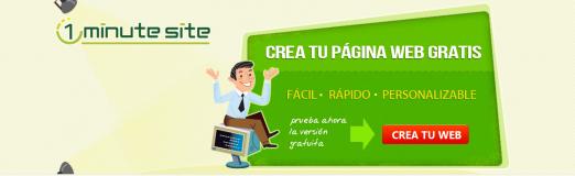 1Minute Site Crea tu pagina web gratis